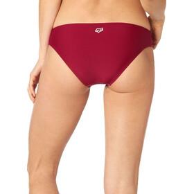 Fox Rodka Lace Up Slip del bikini Mujer, rojo